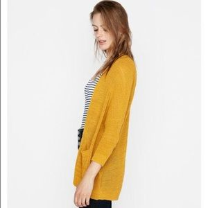 Express Drop Shoulder Shaker Knit Cardigan S